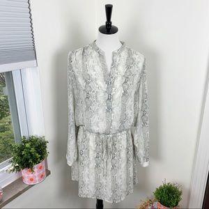 Hilary Radley Snakeskin Tunic Dress